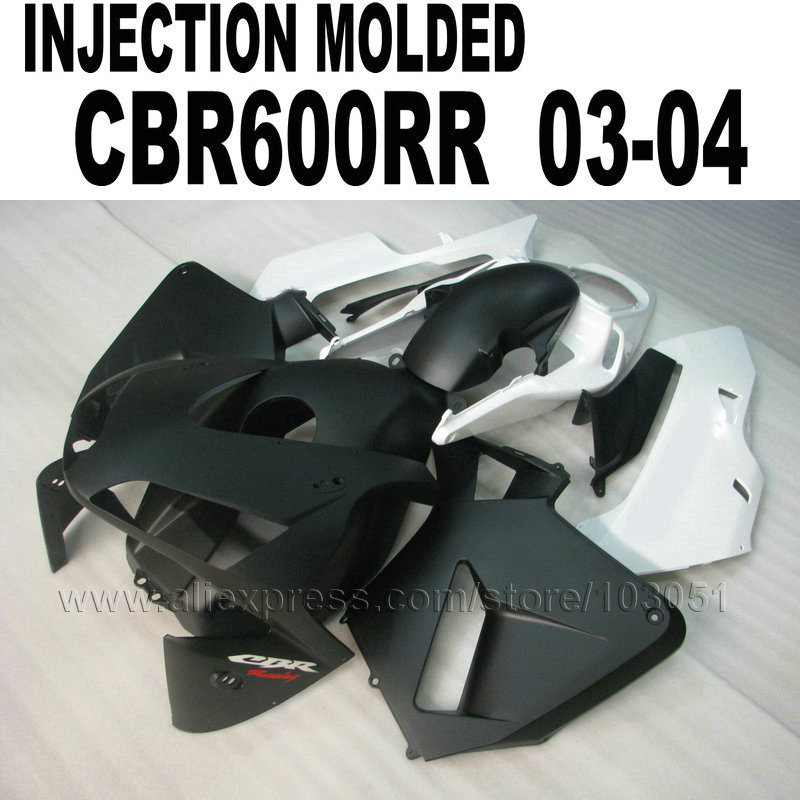 Injection mold fairing kits for Honda CBR600RR 2003 2004 CBR 600 RR 03 04 cbr600 matte black white fairings kit hot sales for honda cbr600rr 2003 2004 cbr 600rr 03 04 f5 cbr 600 rr blue black motorcycle cowl fairing kit injection molding