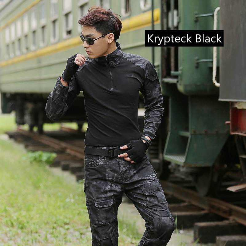 Tactical Frog Suit Outdoor Sports Airsoft  Hunting US Army Military Uniform Tactical Combat Shirts+ Pants