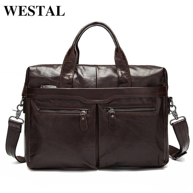 607b15c0c312 WESTAL мужские кожаные сумки через плечо смужские сумки из натуральной кожи  сумка для ноутбука сумочки инструмент