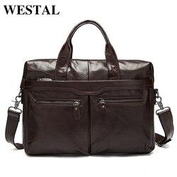 WESTAL männer Tasche Aus Echtem Leder Umhängetasche Männer Leder männer Schulter/Umhängetaschen für Männer Laptop Taschen aktentaschen Totes