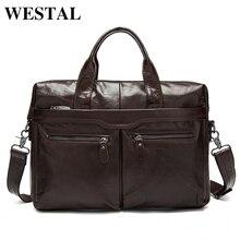 WESTAL torba męska na ramię z prawdziwej skóry torba mężczyźni skóra męska torba na ramię/torby Crossbody dla mężczyzn torby na Laptop teczki skrzynki