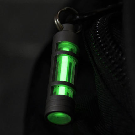 Titanium Keychain Automatic Light Tritium Gas Lamp Titanium Key Ring Life Saving Emergency Lights For Outdoor Survival Tool-in Outdoor Tools from Sports & Entertainment    1