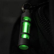 Титановый брелок автоматический свет Тритий газовая лампа титановое кольцо для ключей спасательные аварийные огни для наружного инструмента выживания