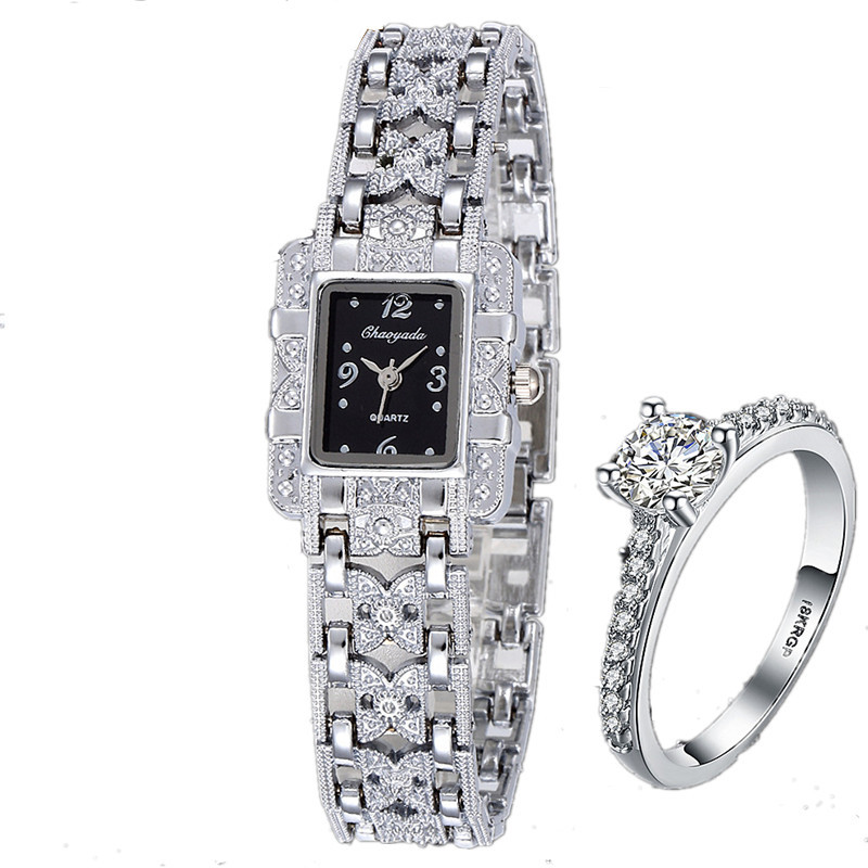 Ladies Watch Luxo Rhinestones Brand Jewelry Girl Full White