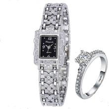 Ladies Watch Luxo Rhinestones Brand Jewelry Girl Full White