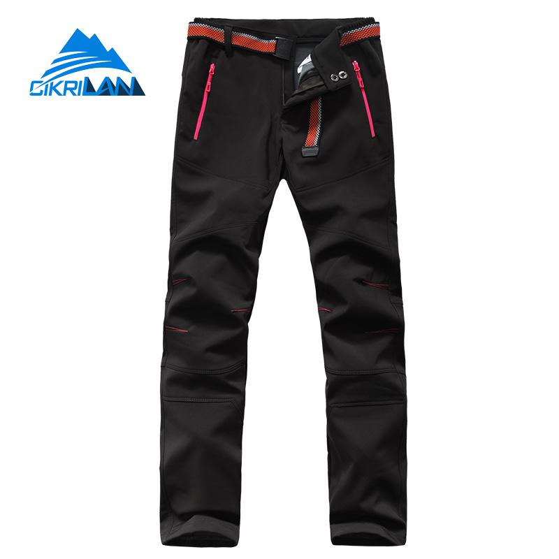 Hot Winter Softshell Outdoor Trekking Hiking Pants Women Sport Camping Climbing Pantalones Mujer Breathable Windstopper Trousers hot winter softshell outdoor trekking hiking pants women sport camping climbing pantalones mujer breathable windstopper trousers