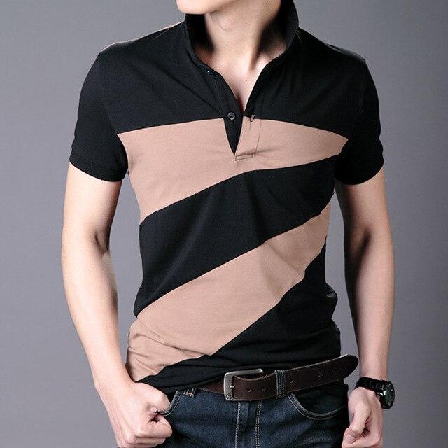 2016 Летом Новая Мода Мужская С Коротким Рукавом Нагрудные Рубашки Поло Slim Fit Лоскутная Колющими Повседневная ПОЛО Homme 3xl Бесплатная Доставка