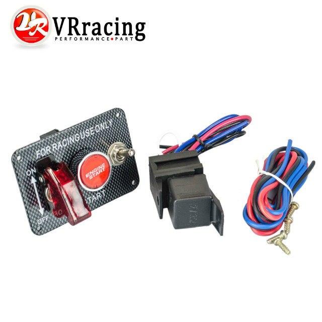 VR RACING-Carreras De Coches Electrónica Kit de Interruptor Panel Engine Start B