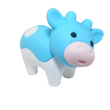 Kawaii Cow Eraser the Cow Boy Eraser the best collection for rubber eraser set MOQ 1 piece per set