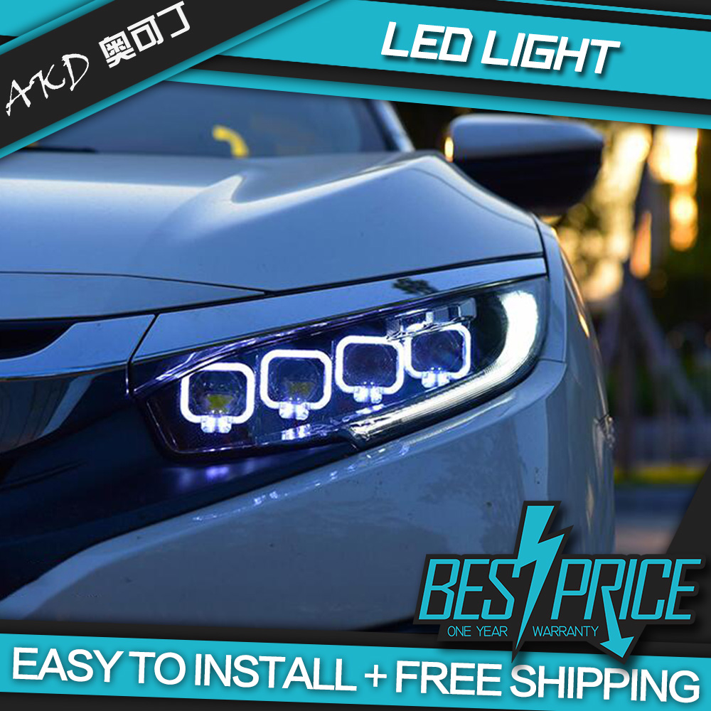 Headlights For Cars >> Akd Cars Styling Headlight For Honda Civic X G10 Mk10 Bugatti Type