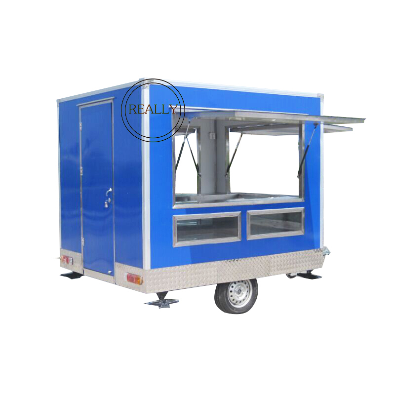 US $3000 0 |Square shape hot sale new design mobile food kiosk food cart  trailer 280 cm long mobile food cart for sale-in Food Processors from Home