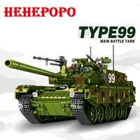 Tank World Military War Weapon Type 99 Tank Block 1339pcs Bricks Building Blocks Sets Models Educational Toys For Children DIY