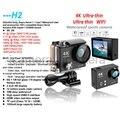 Оригинал H2 4 К 25FPS камеры Действия Wi-Fi h9 Плюс h9r Ultra HD 1080 P SJ 60fps Шлем DV cam 4000 5000 go pro hero 4 камера спорта