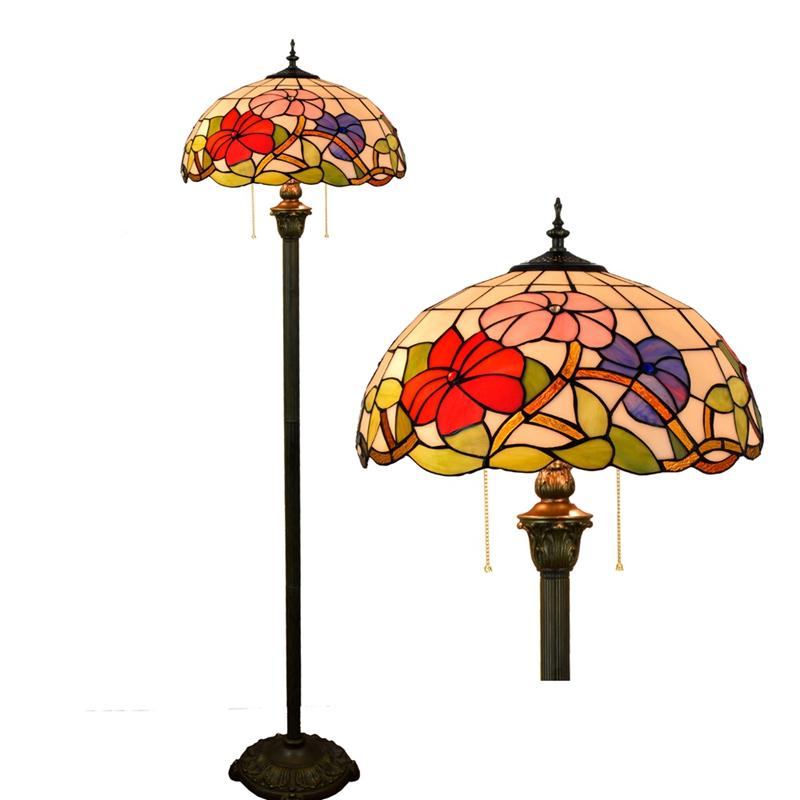 цена на Eusolis Stained Glass Vintage Floor Lamps European Style For Living Room Lampe Deco Lampada Da Terra Cinese Abajour Deco Chambre