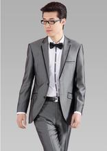 Blazer males formal gown newest coat pant designs swimsuit males costume european gray trouser marriage wedding ceremony fits for males's