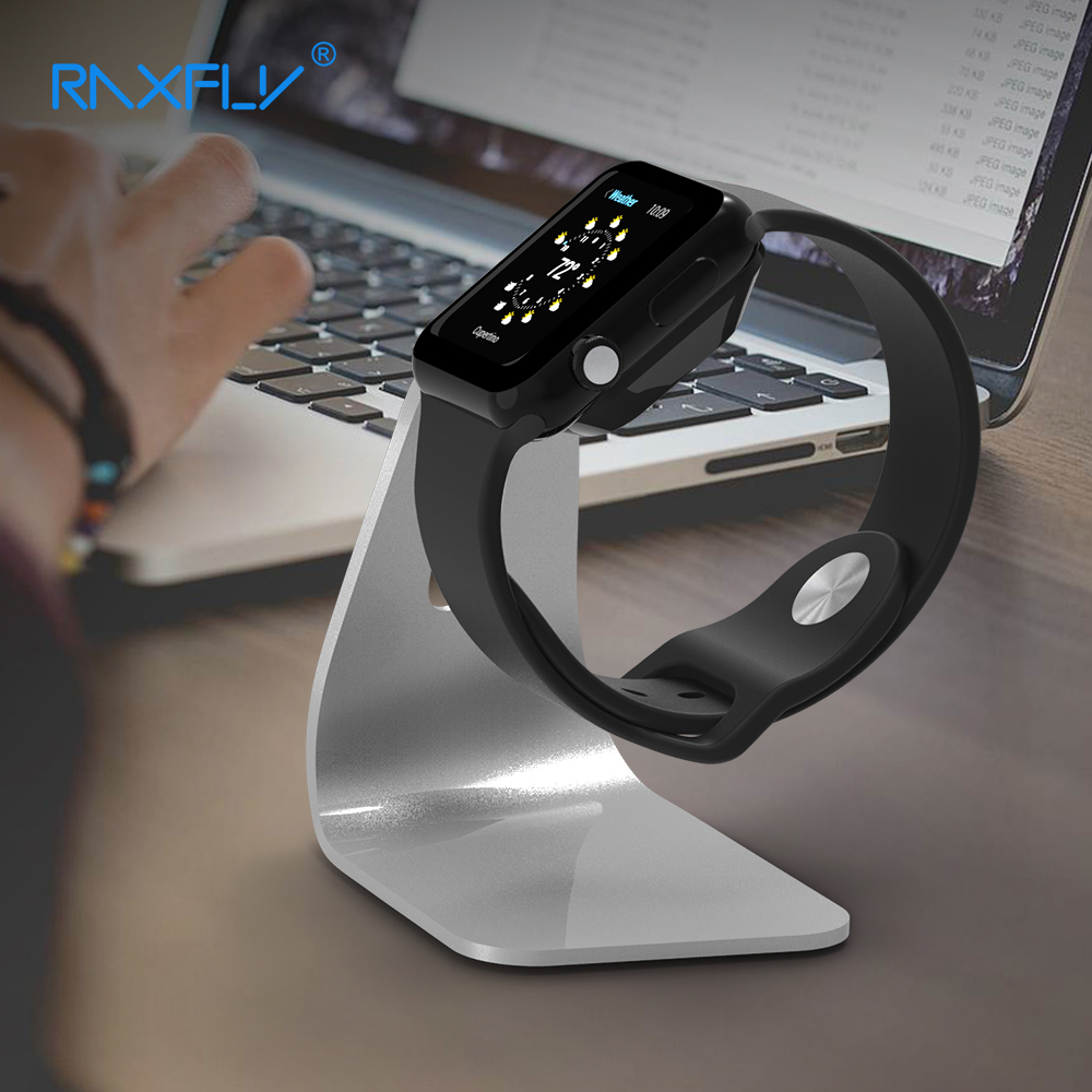 RAXFLY Watch Holder For Apple Watch Charging Dock Stand Holder For Smart Watch High Quality Metal Kickstand Cradle