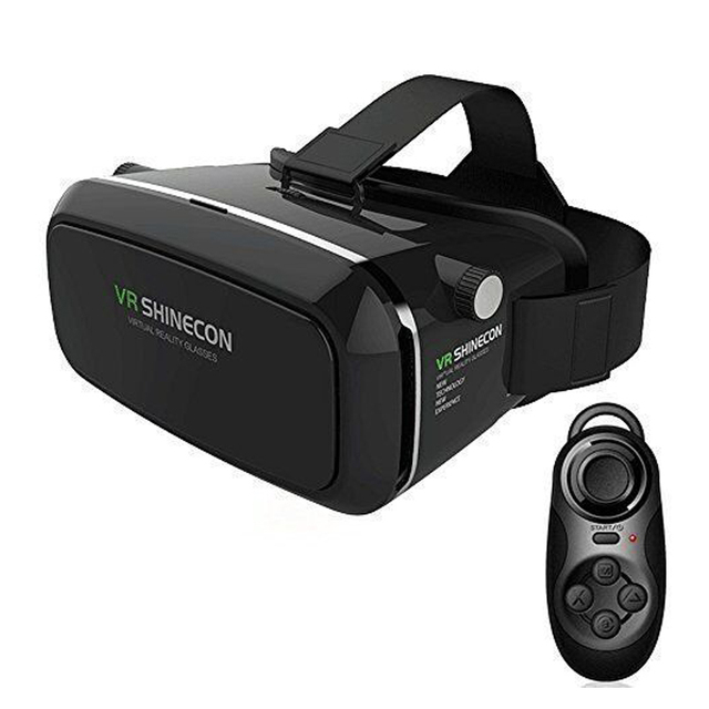Bluetooth controller +Shinecon Pro Google Cardboard 3D VR Box Virtual Reality Glasses Movies Games for 3.5''-6.0'' Smartphone