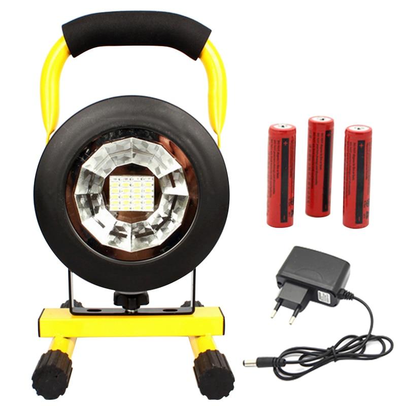 IP65 Waterproof 30W Outdoor LED Flood Light Rechargeable