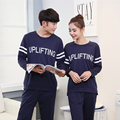 Autumn and winter couple simple men and women long - sleeved pajamas home service suits