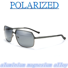 2015 Magnesium aluminum alloy Outdoor sport Trendsetter classic Men polarized  sun glasses UV400 polarized sunglasses driving