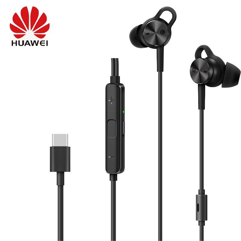 HUAWEI Active Noise Cancelling Écouteurs 3 CMQ3 USB type C Connecteur Casque Hybride Écouteurs pour P20 Compagnon 20 Pro X Téléphones