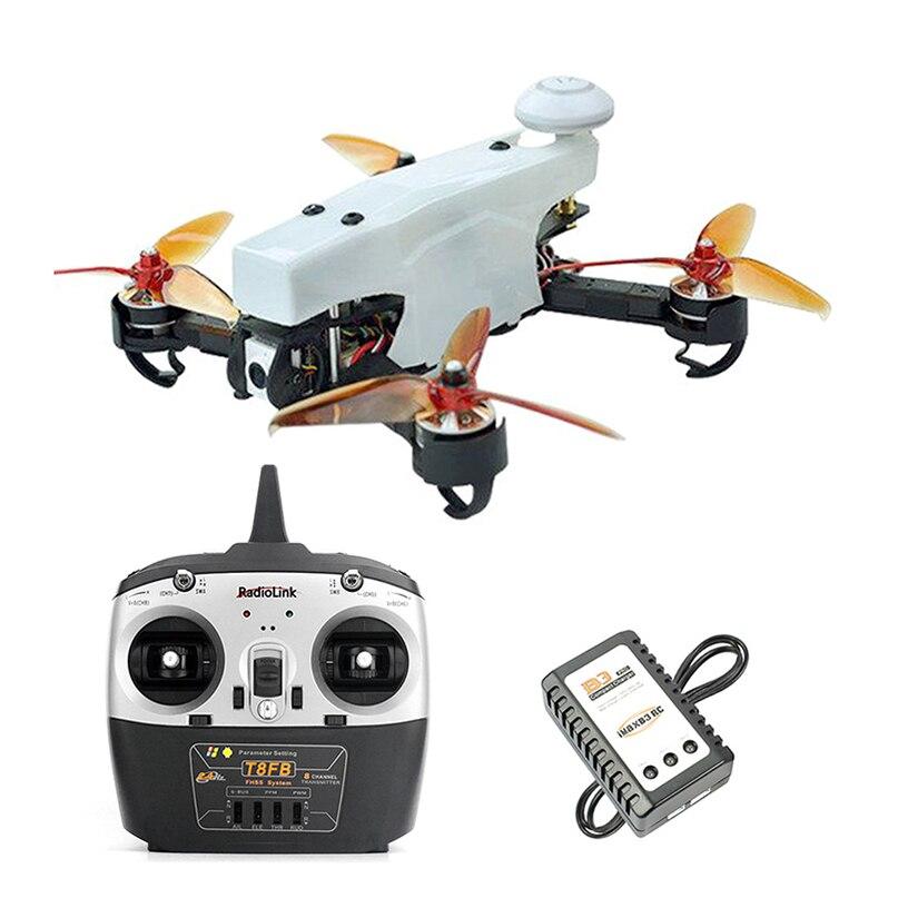 Drone de course JMT 210 FPV quadrirotor RTF avec Radiolink T8FB TX RX 100 km/h haute vitesse 5.8G FPV DVR 720 P caméra GPS OSD Mini PIX