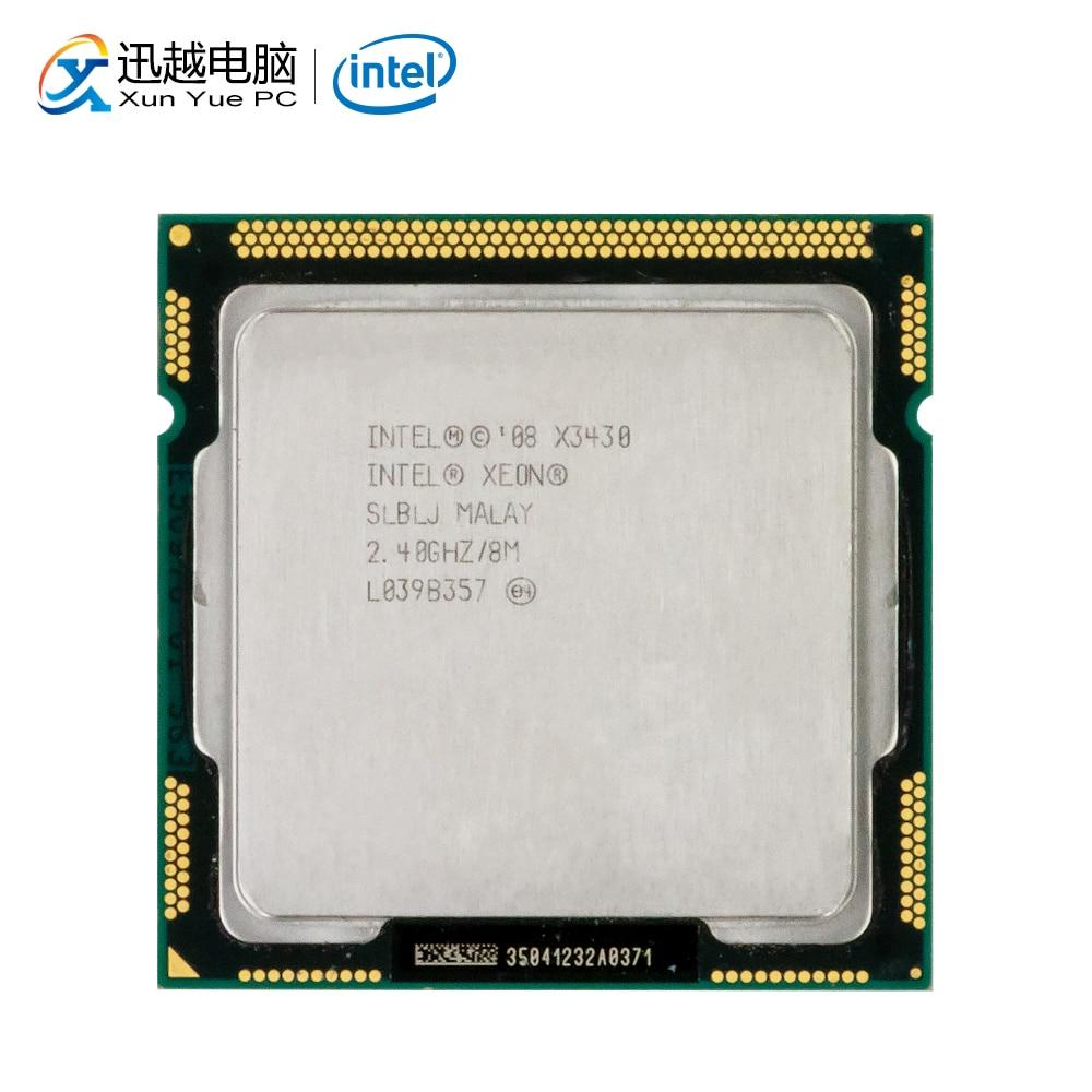 Intel Xeon X3430 Desktop Processor 3430 Qual-Core 2.4GHz 8MB QPI 4.8GT/s LGA 1156 Server Used CPU