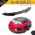 Golf 6 GTI carbon fiber Front Bumper Lip spoiler Fit for VW MK6 GTI Bumper 2010-2013