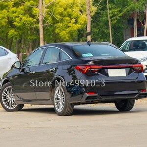 Image 2 - For Toyota Avalon XX50 2018 2019 2020 car body stainless steel inner rear trunk bumper trim plate frame threshold pedal 1pcs