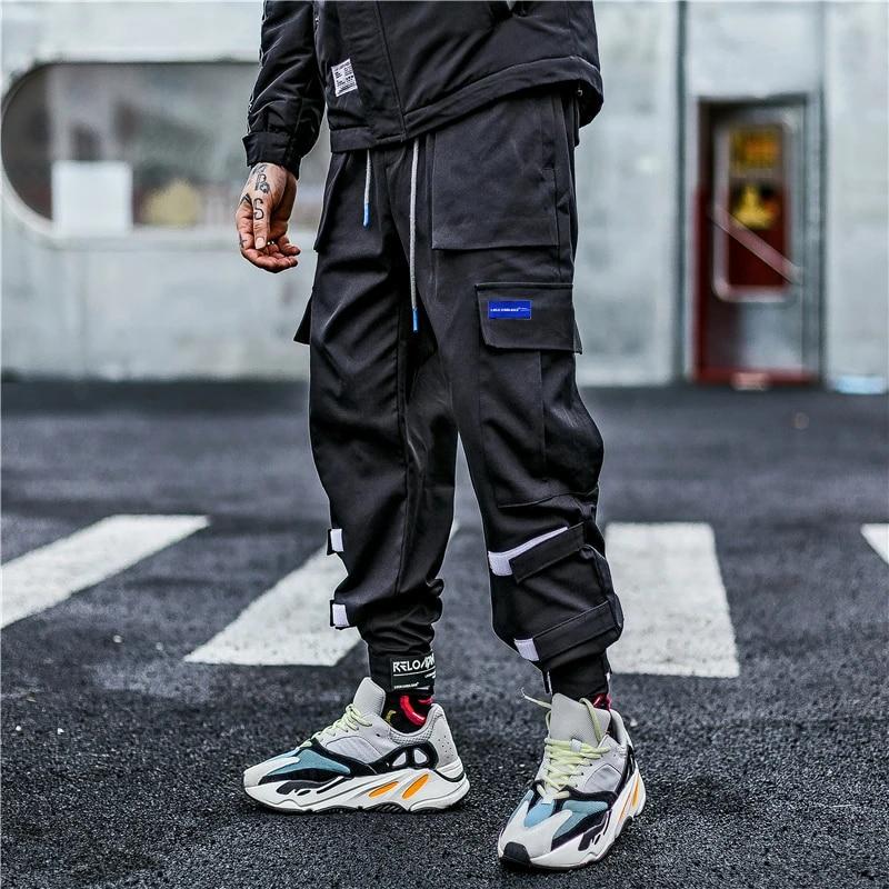 Pantalones Cargo Para Hombre Bordado De Letras Hip Hop Harem Joggers Espalda Gris Pantalones Para Hombre Skateboard Streetwear Pantalones Tipo Cargo Aliexpress
