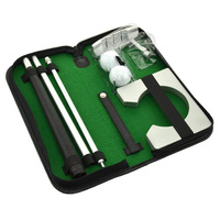 Portable Right Hand Golf Putter Kit Mini Indoor Golf Putting Practice Training Clubs Putter Kit With Goal Rack Balls & Bag