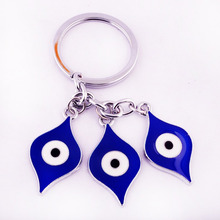 Feng Shui Blue Evil Eye Amulet Keychain Home Decoration Car