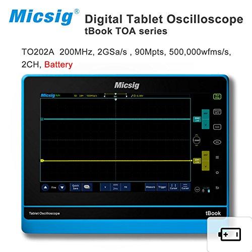 Micsig scopemeter oscilloscope Automotive 200MHz digital Tablet oscilloscope touchscreen oscilloscope portable 2 channels TO202A dso150 avr core portable 2 1 glcd digital storage oscilloscope green black silver