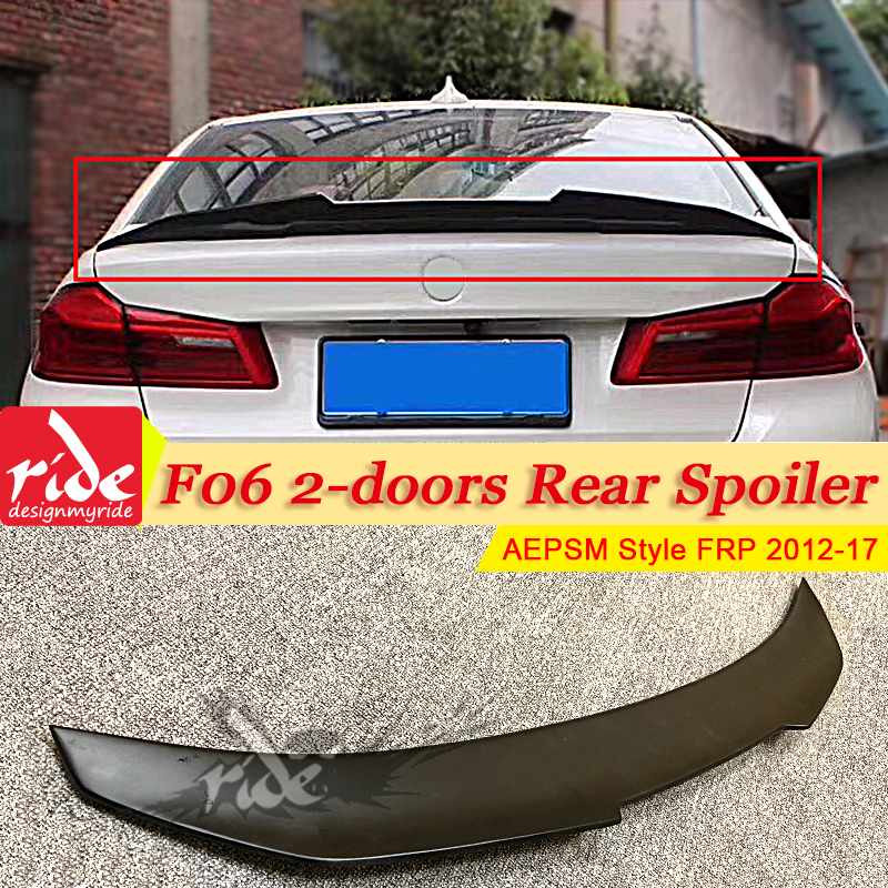 F06 M6 2 alerón trasero alerón FRP estilo PSM no pintado se adapta a BMW F06 Serie 6 640i 650i 650iGC ala de alerón del maletero trasero 12 17-in Alerones y alas from Automóviles y motocicletas