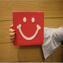 New model tablet case for Apple ipad 2 3 4 common character Smiling face pattern leather cover brand quality