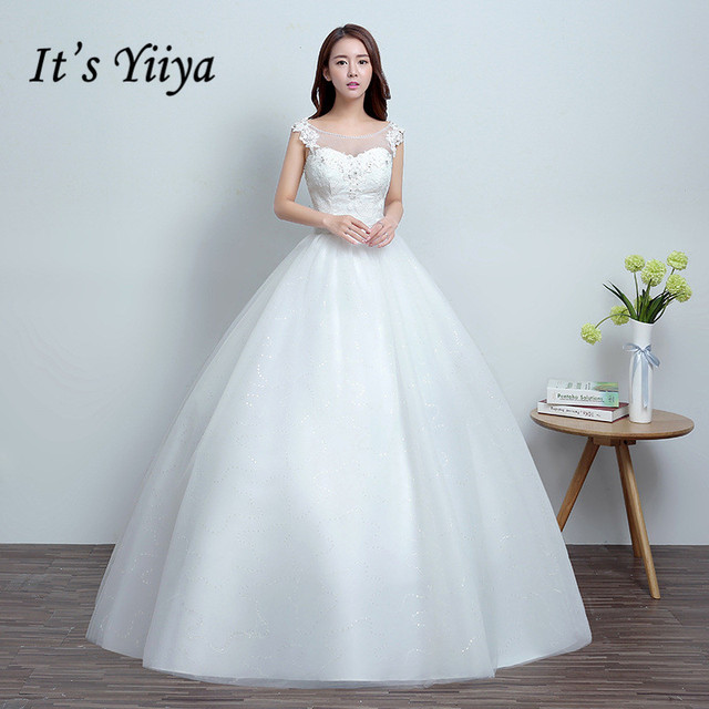 Free shipping Real Photo New Tulle Transparent Lace Wedding Dresses White  Cheap Princess Bride Frocks Bridal Gowns HS673 b4f59ca50856