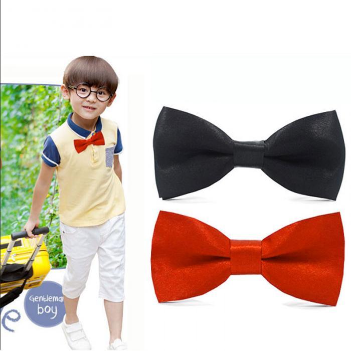 New KID/'S BOY/'S 100/% Polyester Pre-tied Bow tie only dark gray formal wedding