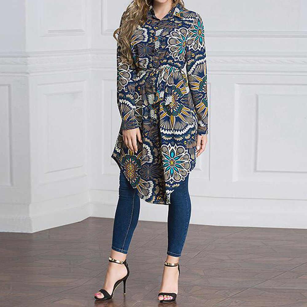 Blusa musulmana de talla grande camisas 5XL 6XL mujer ropa de manga larga Abaya turco UAE Dubai árabe Islam Oficina Tops largos mujer