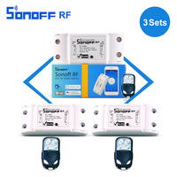 3pcs Itead Sonoff Rf Smart Remote Control 433mhz AC90 250v 10A Wifi Switch Module For Light