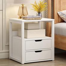 Простой прикроватный столик простой современный экономичный шкафчик для хранения в спальню Полка на стенку кровати шкаф для хранения
