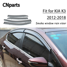 9c882a1b0ad CNparts 4pcs ABS For Kia K3 2012 2013 2014 2015 2016 2017 2018 Car Smoke  Window Visor Keep Fresh Air convection Accessories -in Awnings   Shelters  from ...