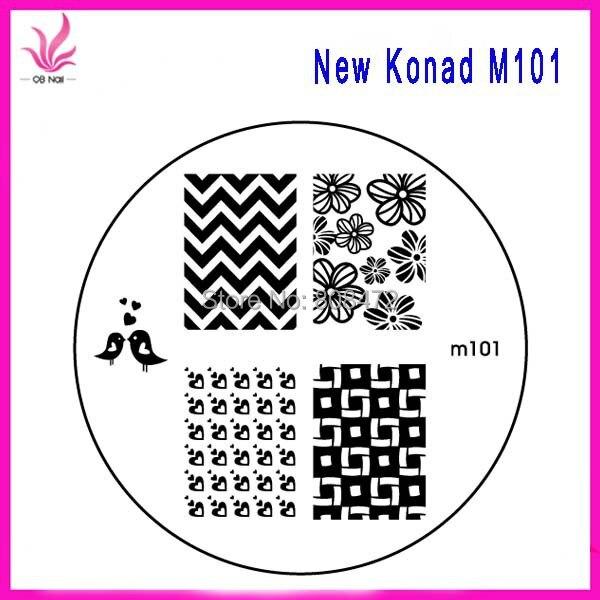 10pcs PER LOTS NEW Nail Art Stamping M series Mix Designs Wholesales ...