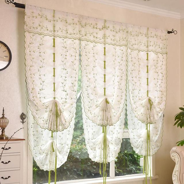 2016 Roman Shade European Embroidery Style Tie Up Window