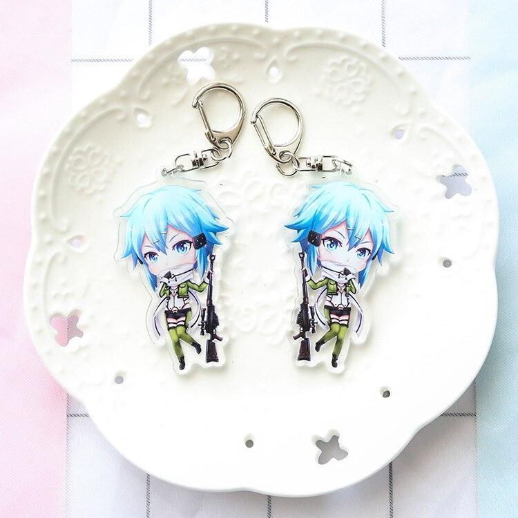 Provided Cartoon Sword Art Online Pvc Keychains Kirigaya Kazuto Yuuki Asuna Cute Funny Pendant Keyrings Brelok Do Kluczy Kids Gifts Toy Jewelry Sets & More