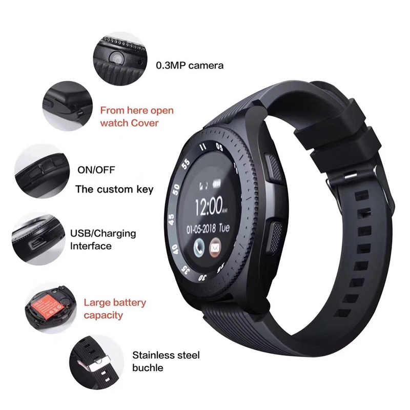 Z4 com câmera cartão sim tela de toque smartwatch à prova dwaterproof água esportes fitness inteligente relógio inteligente saudável pulseira para ios android