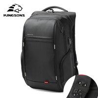 Kingsons USB Charge Anti Theft Backpacks Men Travel Waterproof School Bags College Teenager Male 13 15