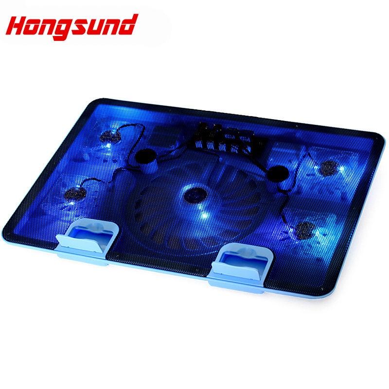 Hongsund USB ordinateur portable refroidisseur refroidissement refroidisseur d'ordinateur portable Pad 5 ventilateurs pour ordinateur portable Base ordinateur refroidissement Pad renforcer l'édition