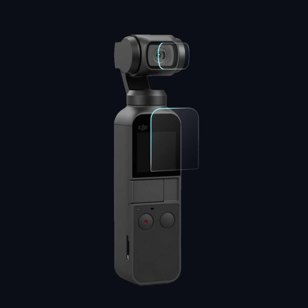 2 + 2 PCS protecteur de caméra résistant aux rayures et protecteur d'écran pour DJI OSMO POCKET 3 axes cardan caméra