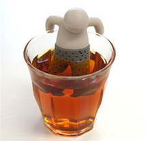 2pcs/lot Teapot cute Man Infuser/Tea Strainer/Coffee Sets/silicone Mr Tea Infuser Loose Tea Leaf Strainer Herbal Filter Diffuser