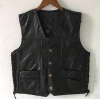 Street Men Leather Vest Leisure Coats Men's Hip Hop Waistcoat Suit Vests Autumn Winter Mens Sleeveless Jacket Male Clothing Tops
